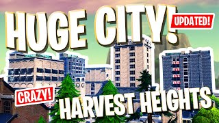 *GIANT* CITY w/ CODES! Harvest Heights | Fortnite: Creative