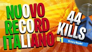 44 KILL IN SQUAD! ! NUOVO RECORD ITALIANO | FORTNITE ITA