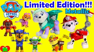 paw patrol limited edition metallic action pack pups with everest