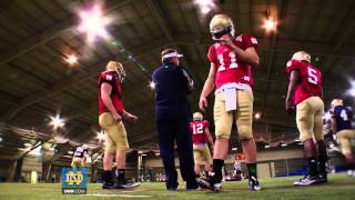 Notre Dame Football - Brian Kelly Spring Football Mic'd Up Feature
