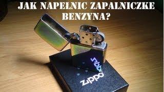 ZIPPO - jak napełnić zapalniczkę benzyną ?