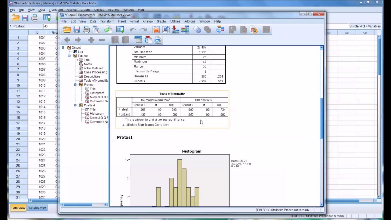 Normality Tests in SPSS