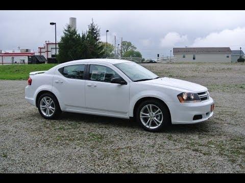 2014 Dodge Avenger Se Sedan White For Sale Dayton Troy