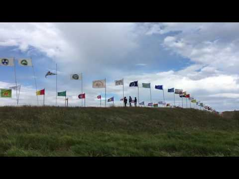 Native American Flags Flying High At Standing Rock Camp
