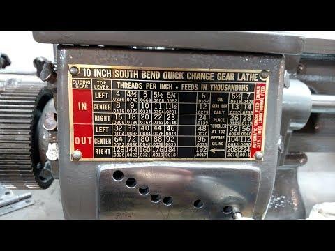 Lathe Machine ID Tag Restoration South Bend, Atlas