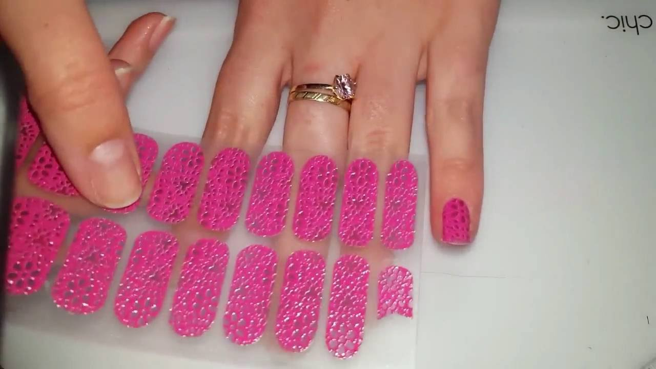 How to apply Essie Nail art stickers | Manicuremonday - YouTube
