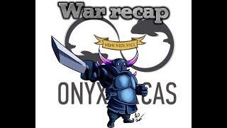 Onyx Orcas vs pu clashers. war recap. Clash of clans.