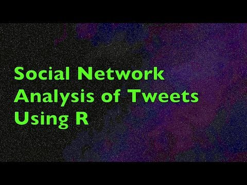 Social Network Analysis of Tweets Using R | Application Example