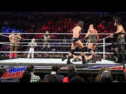 The Brotherhood, Los Matadores & El Torito vs. Rybaxel & 3MB: WWE Main Event, Feb. 26, 2014