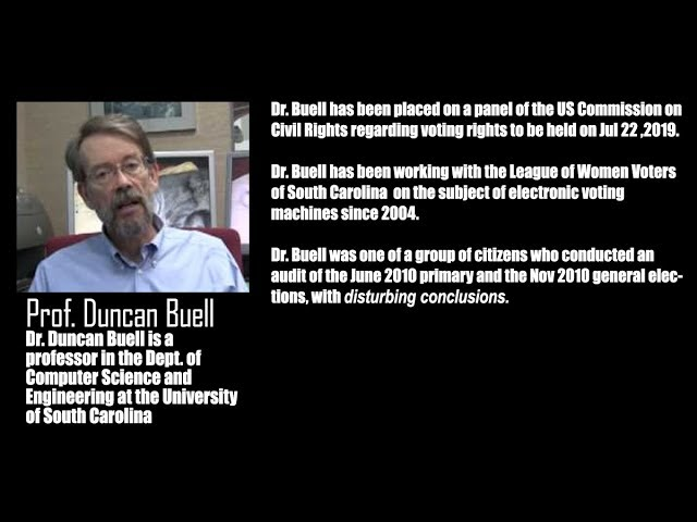 NC NAACP Town Hall; Dr. Duncan Buell