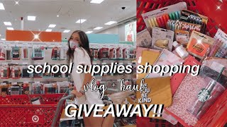 back to school supplies shopping vlog + haul 2020! *HUGE GIVEAWAY!*
