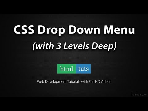 CSS Drop Down Menu With 3 Levels Deep