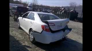 2013 toyota camry salvage collision for export