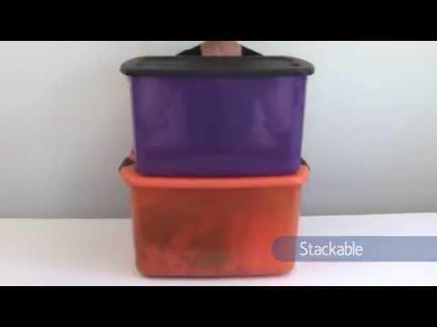 Sterilite 66 quart purple and black latch box YouTube