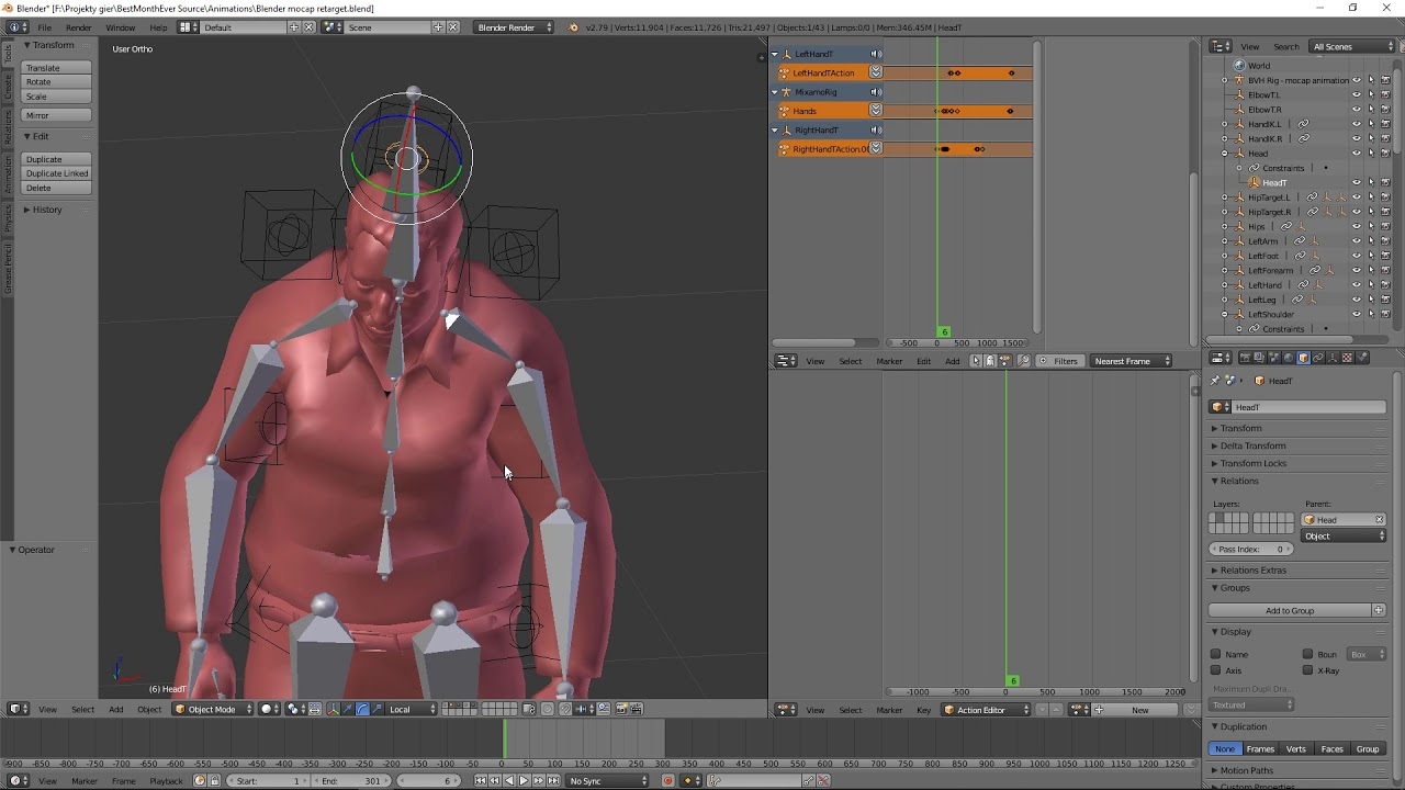 Blender motion capture retargeting tip - BlenderNation