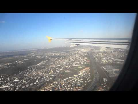 Landing At Paris Orly Airport (ORY) A320 Vuelig  View Of Eiffeltower FULL HD