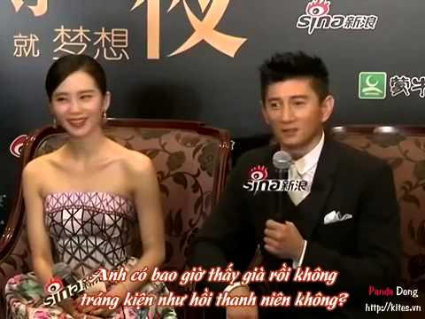 [Vietsub]Ngô Kì Long - Lưu Thi Thi nắm tay nhau tiếp nhận phỏng vấn
