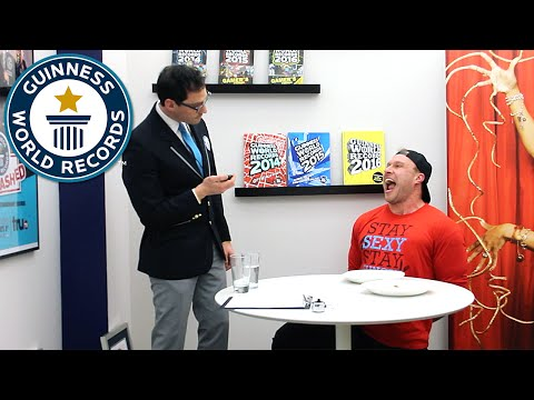 Furious Pete eats his way into the record books - Guinness World Records