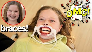 MY DAUGHTER GETS BRACES
