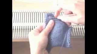 Machine Knitted Button Holes by KnittersEdge