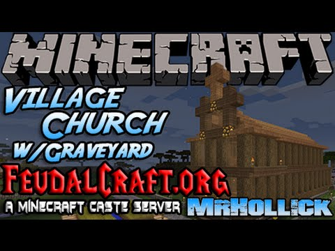 how to build a minecraft village church