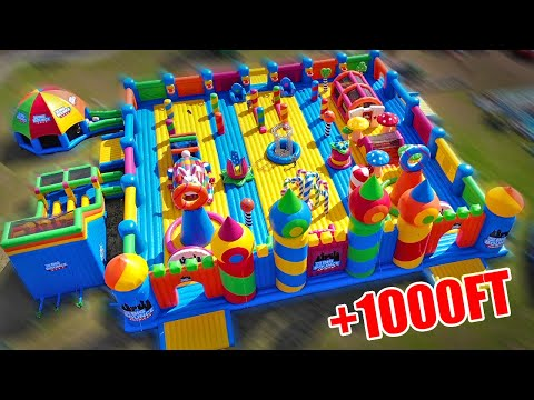 Worlds Largest Bounce House Obstacle Course!
