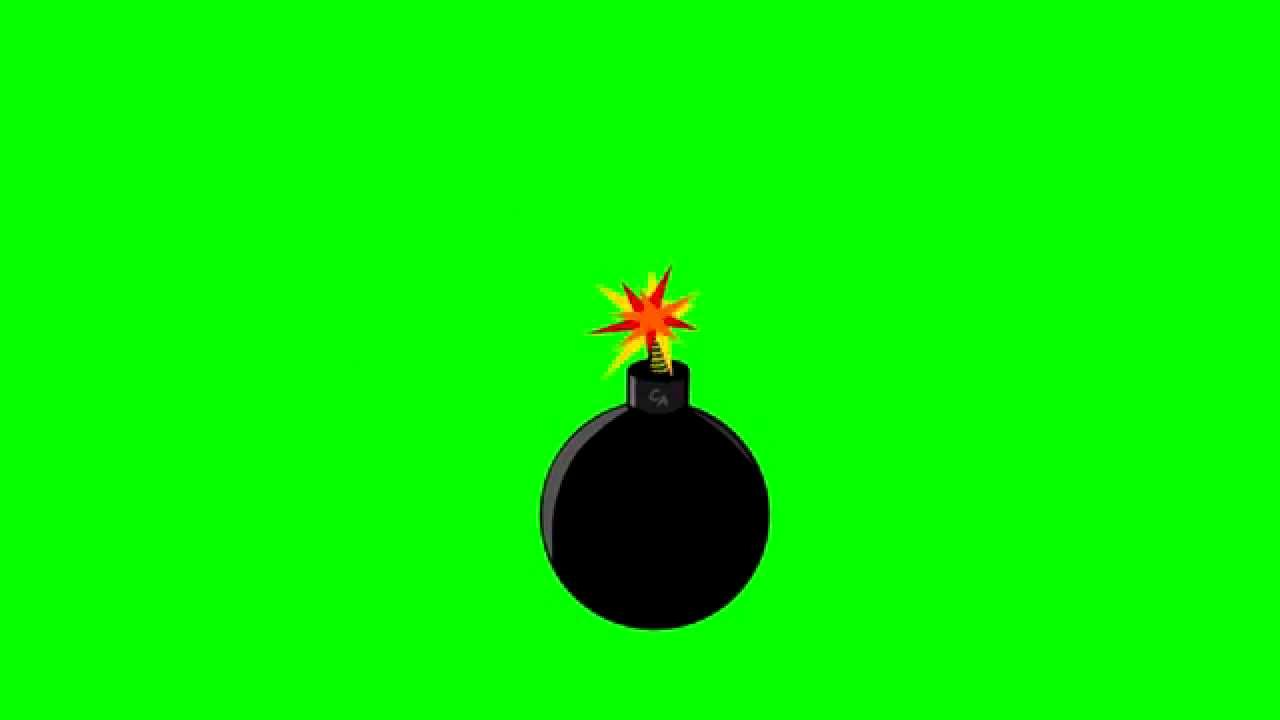 Animated Bomb Exploding ~ Green Screen - YouTube