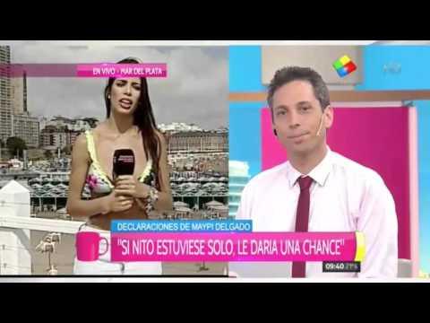 Maypi recargada: Incendió en vivo a Flavio Azzaro