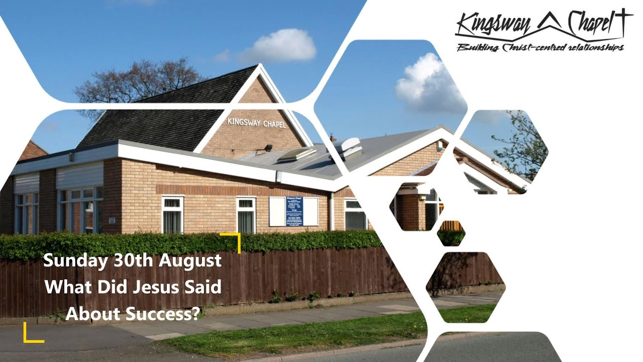 What Did Jesus Say about Success? 30/08/2020 Geoff Thompson
