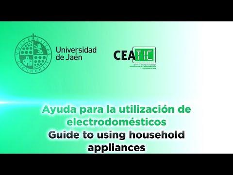 Ayuda para la utilización de electrodomésticos - Guide to using household appliances