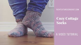 Cozy Cottage Socks - A Free crochet pattern by Rich Textures Crochet