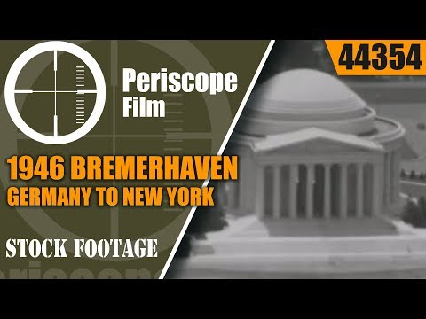 1946 BREMERHAVEN, GERMANY TO NEW YORK, CONEY ISLAND, USA TRIP HOME MOVIE 44354