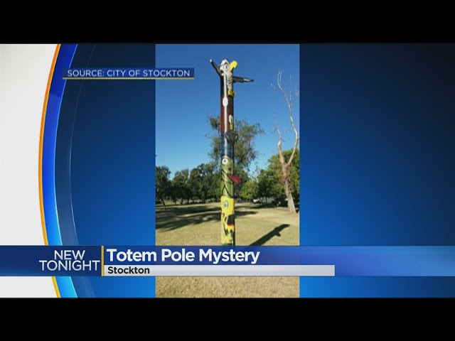 Mysterious Totem Pole Shows Up In Stockton's Victory Park