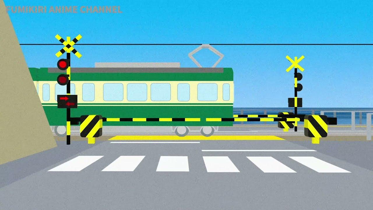 【踏切 Fumikiri】★ 鎌倉高校前踏切と 江ノ電 / Railroad Crossing nearby Kamakura High School