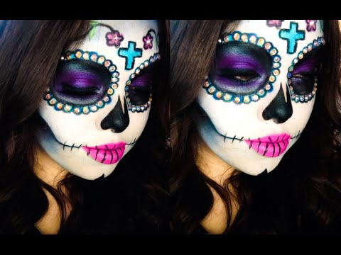 Male day of the dead makeup