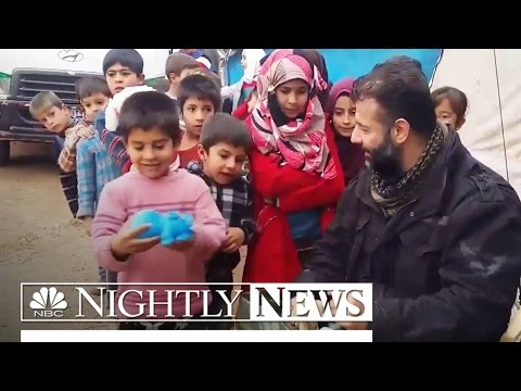 Meet 'The Toy Smuggler' Risking His Life To Bring Joy To Syria's Children | NBC Nightly News