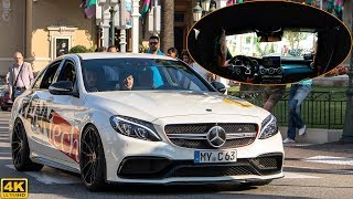 709hp RENNTECH MERCEDES-BENZ C63 S AMG - ON BOARD RIDE, driving and CRAZY SOUND [2018 4K]