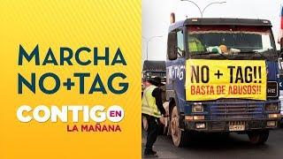 NO+TAG: Camioneros y taxis vivieron multitudinaria huelga en carreteras - Contigo en La Mañana