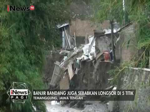 Video Amatir, Banjir Bandang & Longsor di Temanggung, Jateng - iNews Pagi 20/02