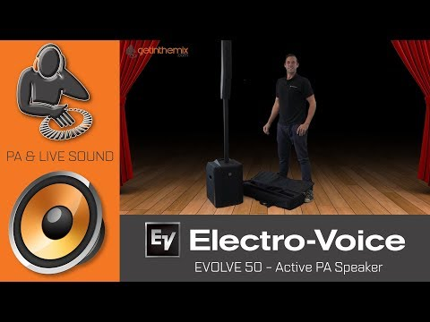 Arthur from Electro-Voice, shows us the EVOLVE 50 Active DJ PA Speaker & App @ Getinthemix.com