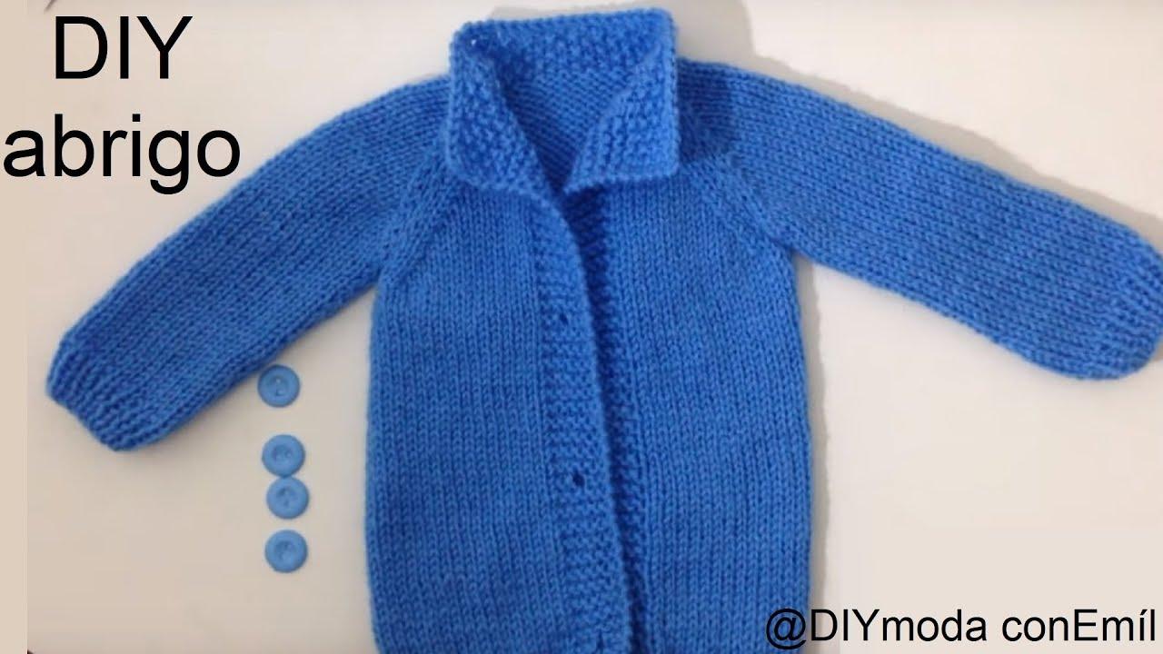 Abrigo o chaqueta para beb reci n nacido youtube - Tejer chaqueta bebe 6 meses ...