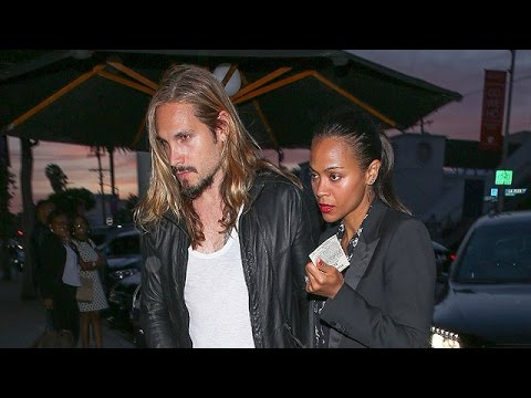 Zoe Saldana And Hubby Marco Perego Have Date Night At Craig's