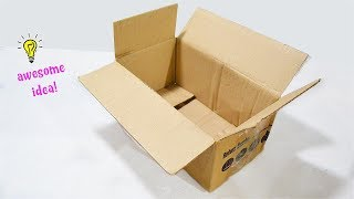 Amazing Cardboard Box Idea that You Can Easily Make! Easy and Creative Way To Recycle Cardboard Box!