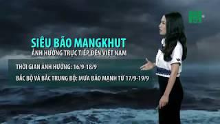 Thời tiết cuối ngày 14/09/2018: Siêu bão Mangkhut di chuyển gần đảo Luzon, philippines | VTC14