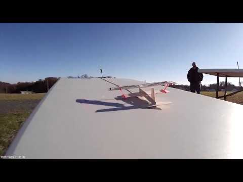 Bungee launching a large RC plane