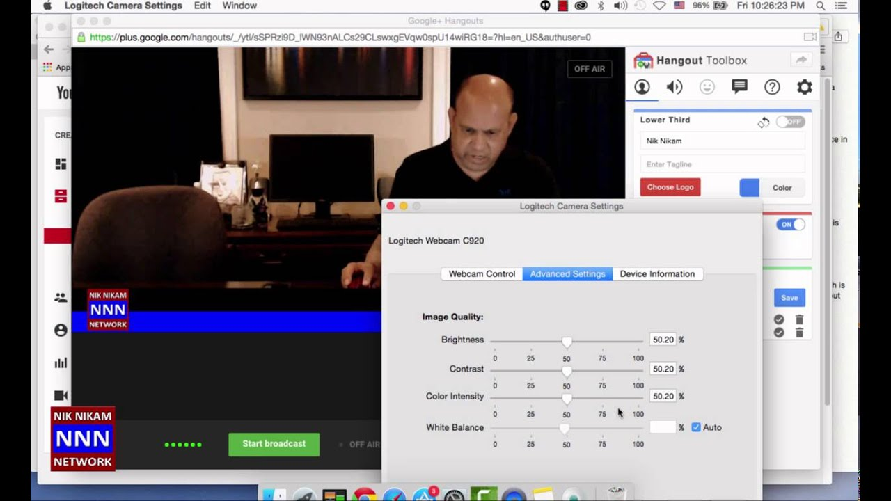 3a67f026d6b Using Logitech C920 with MacBookpro for live video streaming to YouTube
