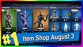 Fortnite Item Shop *NEW* CRYSTAL AND BRONTO SKINS! August 3rd, 2019 Fortnite Season X