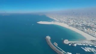 Jumeirah Beach seen from top of Burj Al Arab