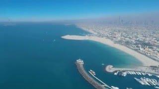 Jumeirah Beach seen from top of Burj Al Arab