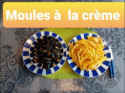 بلح-البحر-بالصلصة-البيضاء-(-بوزروك-بلاكريم-فريش-)moules-à-la-crème-fraîche-/-gâteau-au-yaourt